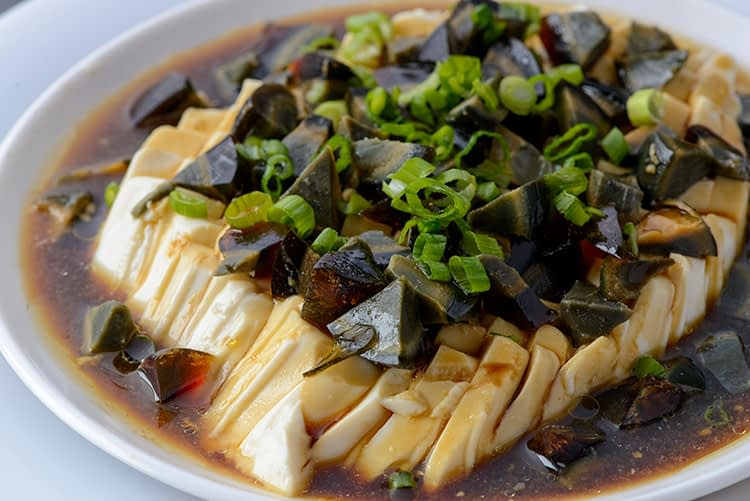 Tofu with preserved Egg - Hot Impression